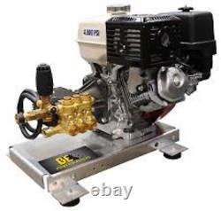 Alum Skid Mount Pressure Washer 3.5gpm 4000psi Honda Gx390 13hp Engine