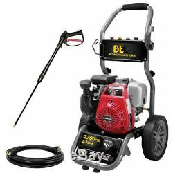 BE275HAS 2700 PSI (Gas Cold Water) Pressure Washer with Honda GC160 Engine
