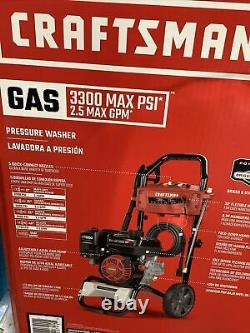 Craftsman 3300-PSI 2.4-GPM Cold Water Gas Pressure Washer Powered by Honda