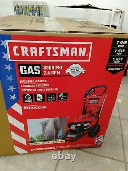 Craftsman 3300-PSI 2.4-GPM Cold Water Gas Pressure Washer with Honda CARB