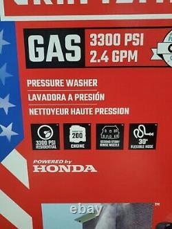 Craftsman 3300 PSI 2.4 GPM Gas Pressure Washer CMXGWFN061113 Honda Engine