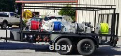 GX690 Honda Pressure Soft wash washing trailer rig. LEDs, more OPTIONS