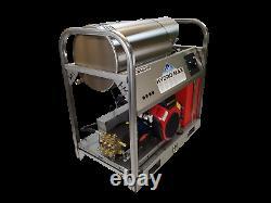 Hot/Cold Water Pressure Washer-8gpm/4000psi-Honda GX690 Engine-Belt Drive