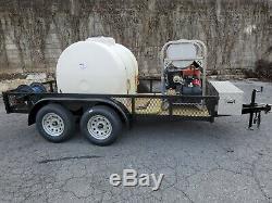 Hot Water Pressure Washer Trailer Mounted-7gpm, 4000psi-Honda GX690