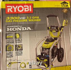 NEW RYOBI 3300 PSI 2.3 GPM Cold Water Gas Pressure Washer with Honda GCV190 Idle