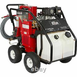 NorthStar Hot Water Pressure Washer with Wet Steam 3500 PSI 3.5 GPM Honda Engine