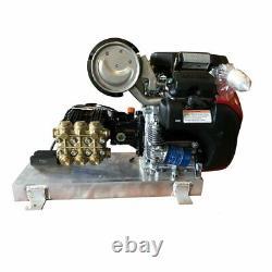 PRESSURE WASHER Skid Mount Cold Water 8 GPM 3500 PSI 20 Hp Honda