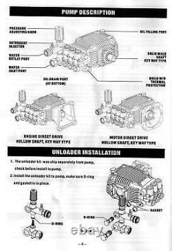 Pressure Washer Pump Devilbliss EXHP3640 Honda GX390 Annovi Reverberi RKV4G36