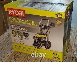 SEALED RYOBI 3000 PSI 2.3 GPM Honda Gas Pressure Washer