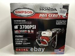 Simpson PS60982 3700 PSI 2.5GPM Honda GX200 Commercial Pressure Washer NEW