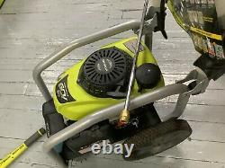 USED RYOBI 3300 PSI 2.3 GPM Cold Water Gas Pressure Washer with Honda GCV190 Idle