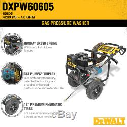 Dewalt Professional 4200 Psi (eau Froide À Gaz) Laveuse À Pression Avec Honda Gx390