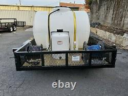 Hot Water Pressure Washer Trailer Monté-20gpm, 4000psi-honda Gx690