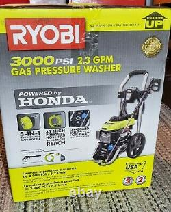 Lave-gaz Sealed Ryobi 3000 Psi 2.3 Gpm Honda