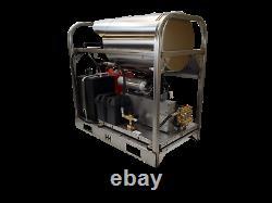 Machine À Laver À Pression D'eau Chaude/froide-10gpm/3500psi-honda Gxi800 Injection De Moteur-fuel