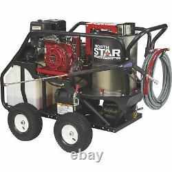 Machine À Laver La Pression D'eau Chaude Northstar Avec Vapeur Humide 3500 Psi Moteur Honda 3.5 Gpm