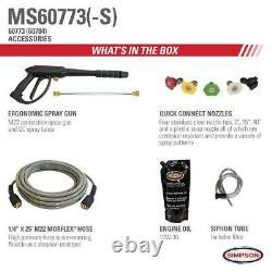 Megashot Ms60773-s 2800 Psi À 2.3 Gpm Honda Gcv160 Cold Water Pressure Washer