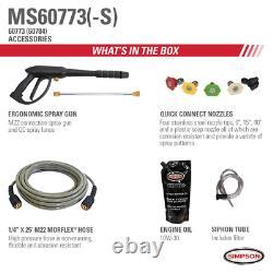 Megashot Ms60773-s 2800 Psi À 2,3 Gpm Honda Gcv160 Laveur À Pression D'eau Froide