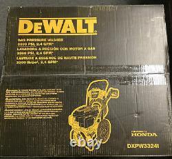 Nouveau Dewalt Dxpw3324i 3300 Psi À 2,4 Gpm Honda Nettoyeur À Pression De Gaz D'eau Froide