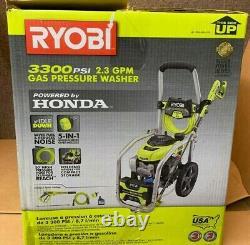 Nouveau Ryobi Ry80942 3300 Psi 2.3 Gpm Honda Machine À Laver La Pression De Gaz