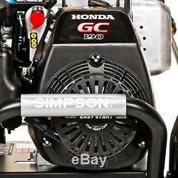Pression Simpson Gaz Laveuse 3200 Psi À 2,5 Gpm Honda Gc190 Eau Froide