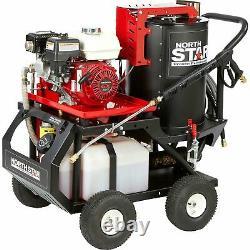 Rondelle À Pression D'eau Chaude Northstar Avec Vapeur Humide 2700 Psi 2.5 Gpm Honda Engine