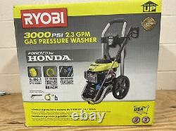 Ryobi 3000 Psi 2.3 Gpm Honda Gas Pressure Washer Ry803001 Nouveau