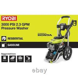 Ryobi 3000 Psi 2.3-gpm Honda Gas Pressure Washer Et 15 In. Nettoyeur De Surface