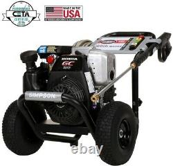 Simpson Gas Pressure Washer 3200 Psi 2.5 Gpm Honda Gc190 Engine 10 In. Roues