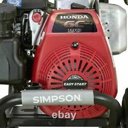 Simpson Megashot 3300 Psi 2.4 Gpm Gas Pressure Washer Avec Moteur Honda