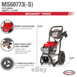 Simpson Megashot Ms60773-s 2800 Psi (gaz-eau Froide) De Laveuse À Pression Avec Honda