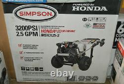 Simpson Megashot Msh3125-s 3200 Psi (gas-cold Water) Lave-pression Avec Honda