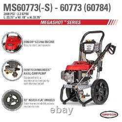 Simpson Ms60773 2800 Psi À 2,3 Gpm Laveur À Pression De Gaz Alimenté Par Honda