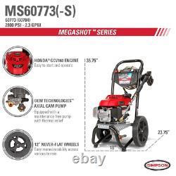 Simpson Ms60773 2800 Psi À 2,3 Gpm Laveur À Pression De Gaz Alimenté Par Honda Outdoor