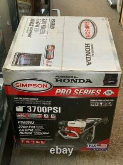 Simpson Powershot 3700-psi 2.5-gpm Gas Pressure Washer Avec Honda (spg042754)