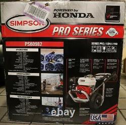 Simpson Pro Series Gas Pressure Laveuse Ps60982 Propulsé Par Honda