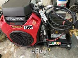 Skid Mont 3500 Psi 8 Honda Gx690 Ar Gpm Pompe À Eau Froide Softwash Style Pression